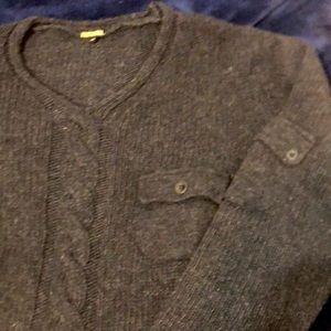 Billtornade gray sweater w/ pockets, size 14 YO